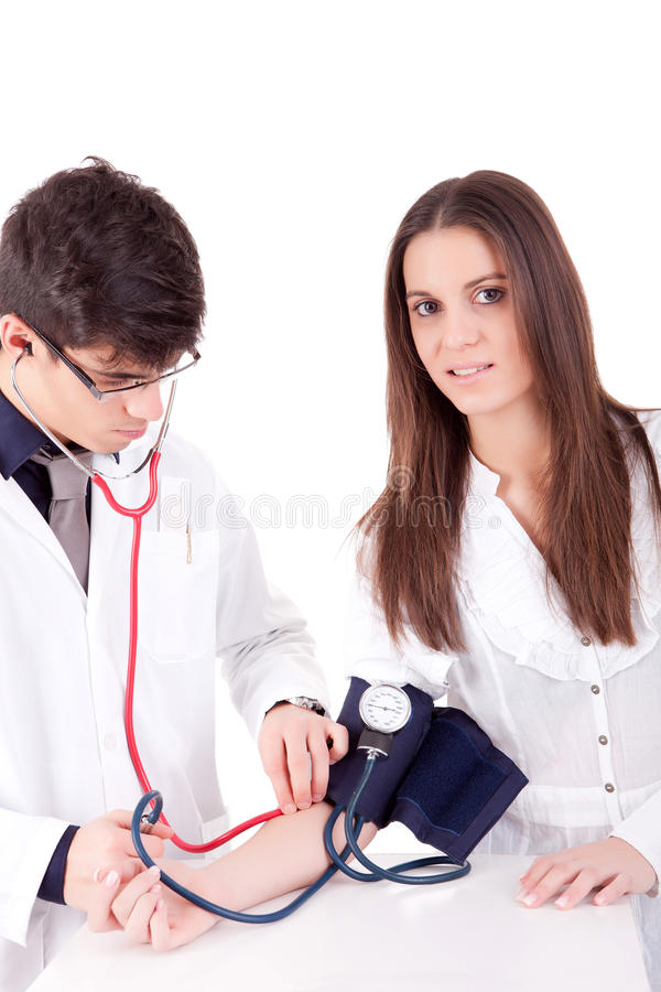 Download Blood pressure measuring stock photo. Image of heart - 24318830