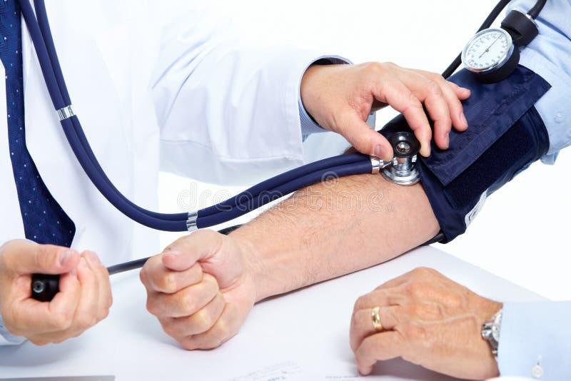 Download Blood pressure measuring. stock image. Image of hand - 31666045