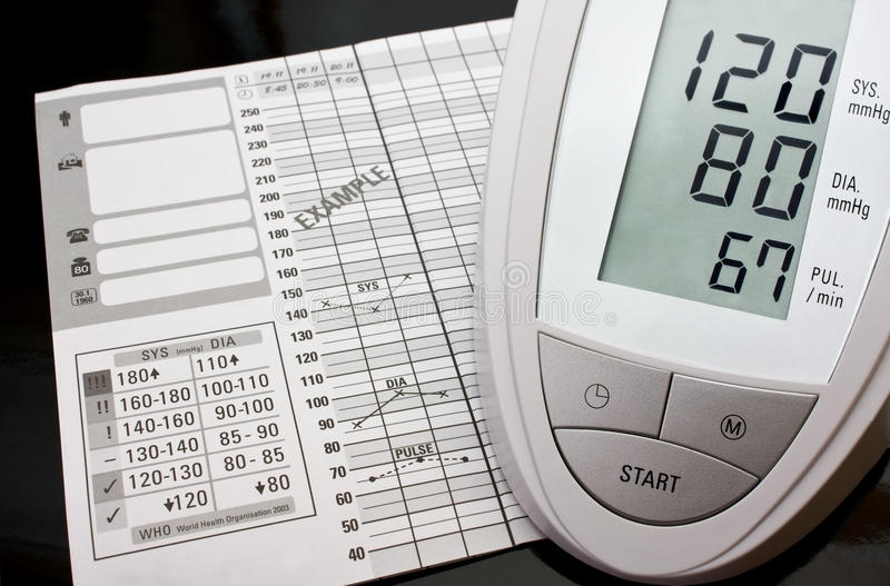 Download Blood pressure monitor stock photo. Image of contemporary - 13456558