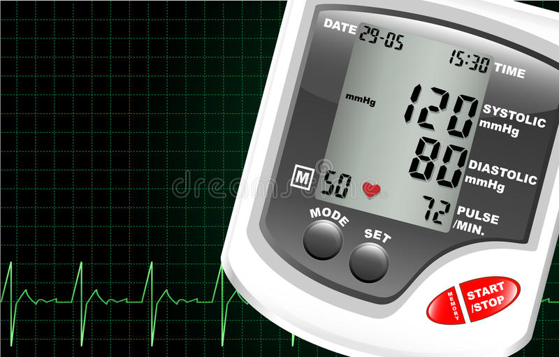 Blood pressure monitor stock illustration