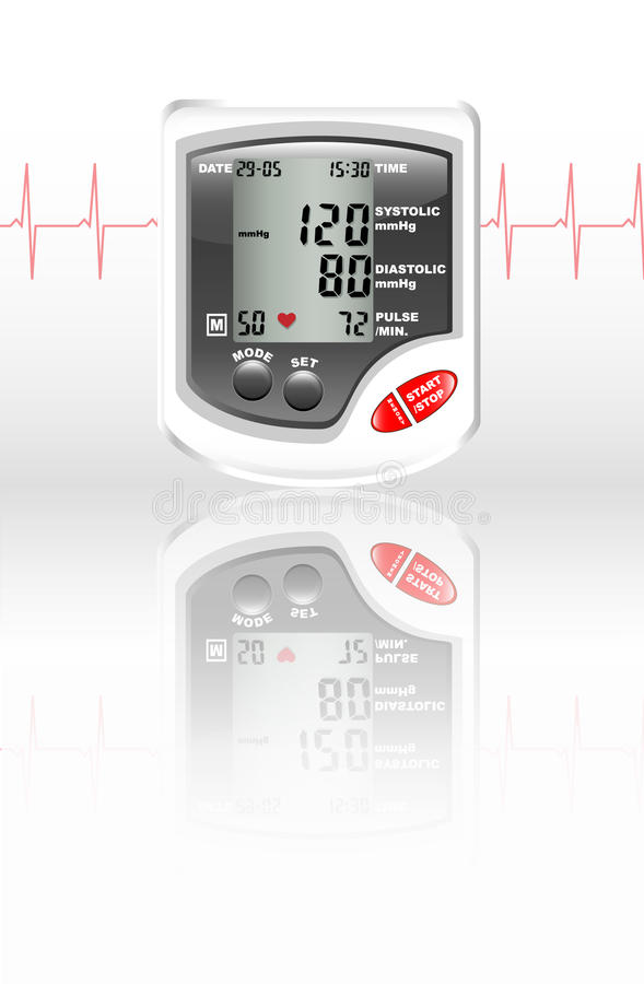 Download Blood pressure monitor stock vector. Image of display - 14585467