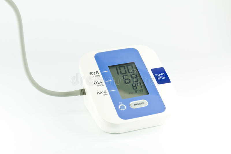 Download Blood pressure monitor stock photo. Image of automatic - 20536594