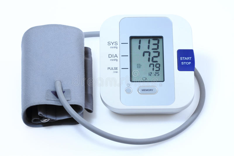 Download Blood pressure monitor stock image. Image of home, display - 22999065