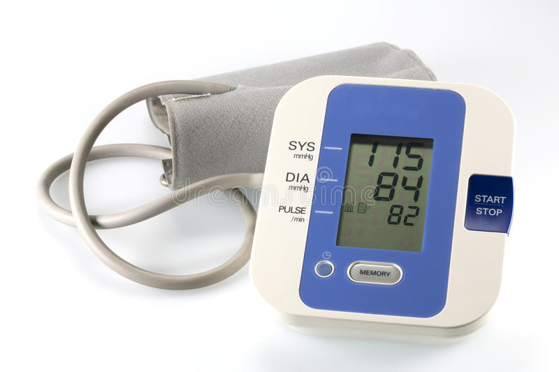 Download Blood pressure monitor stock image. Image of heart, electronic - 26039479