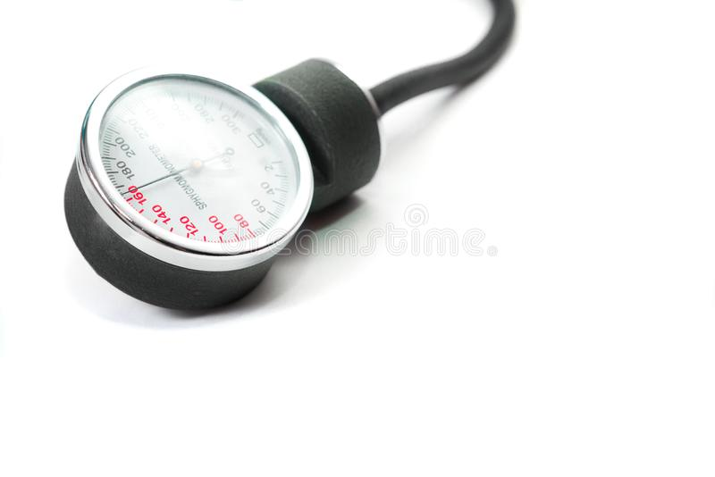 Blood pressure monitor. stock photography