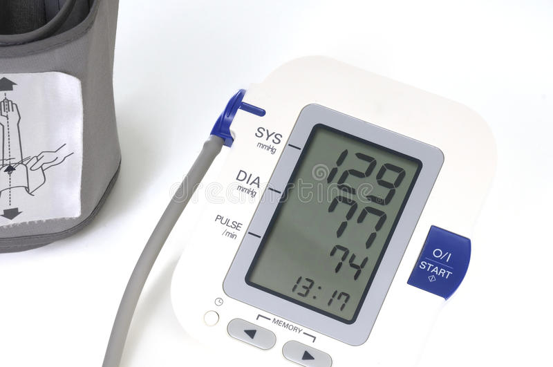 Download Blood Pressure Monitor,  On White Stock Image - Image: 27948003