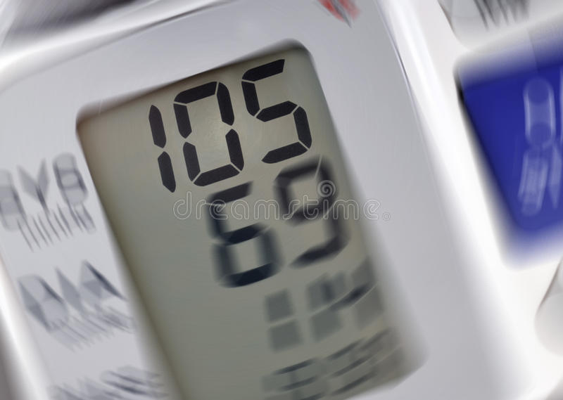 Blood pressure reading royalty free stock photo