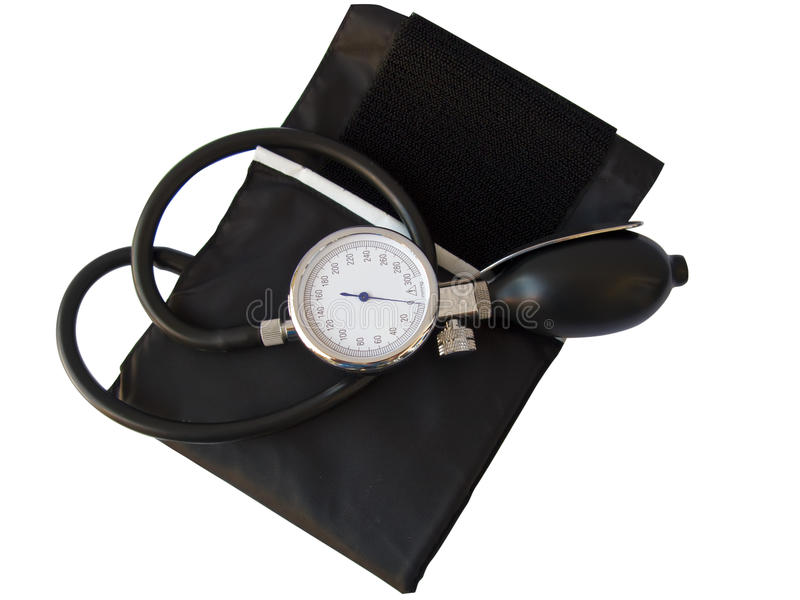 Blood pressure sphygmomanometer,clipping path stock photography