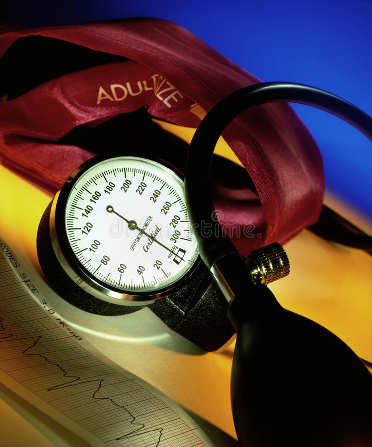 Blood Pressure - Sphygmomanometer stock image