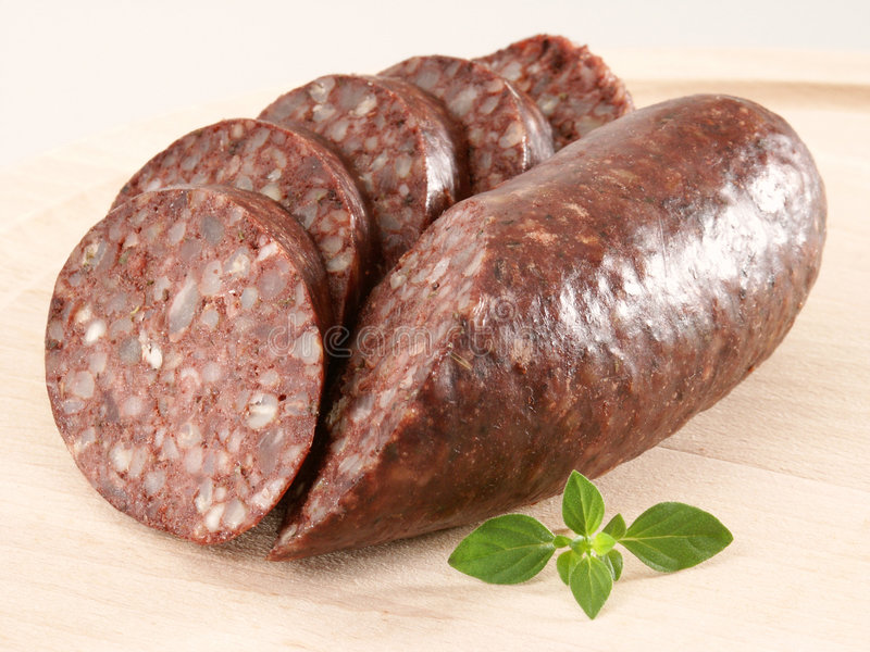Blood pudding royalty free stock photo