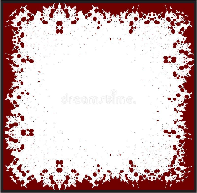 Blood red blooddrop血淋淋的难看的东西 向量例证