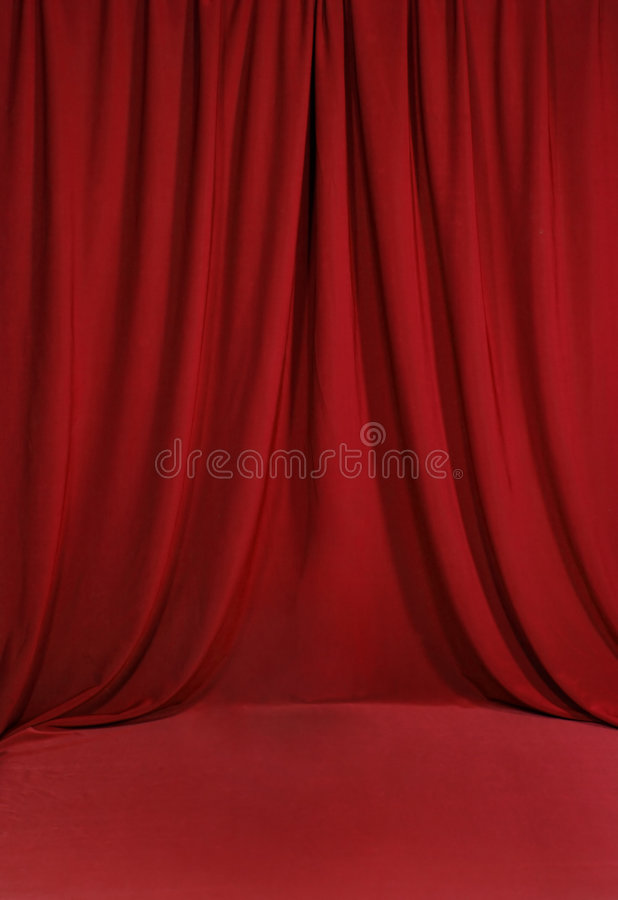 Blood Red Draped Backdrop royalty free illustration