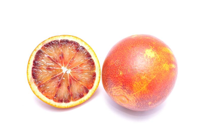Blood red oranges stock photo