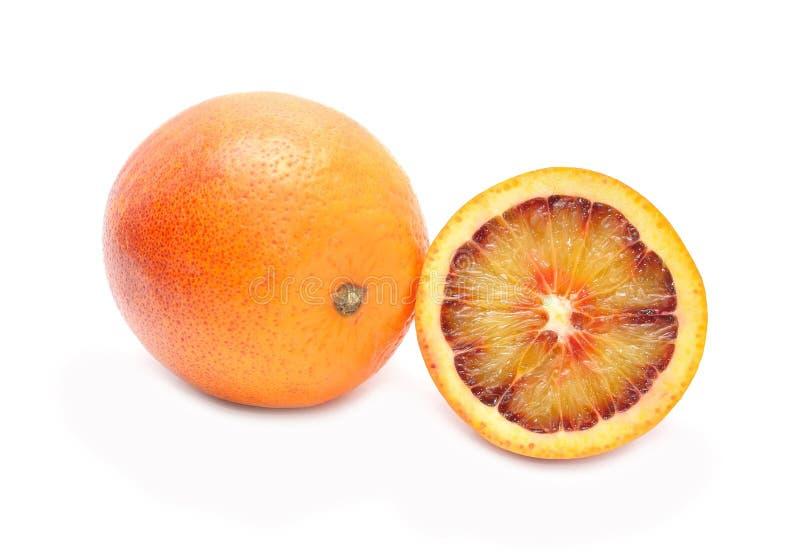 Blood red oranges royalty free stock image