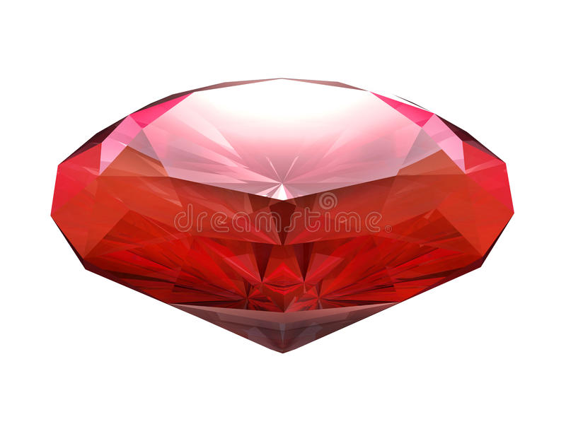 Blood red ruby. Isolated on white background vector illustration