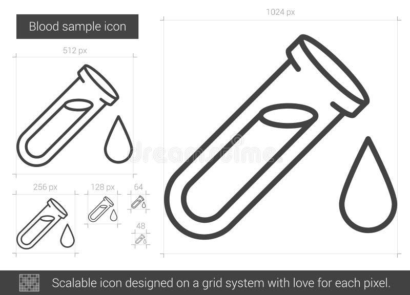 Blood sample line icon. royalty free illustration