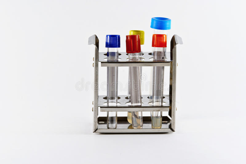 Blood and serum tubes for labs royalty free stock image