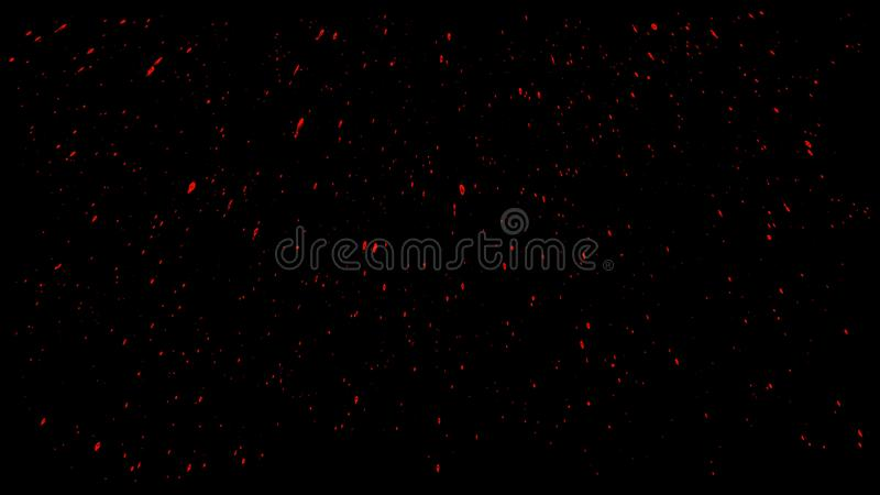 Blood Splashes Over Black Background.  royalty free stock image