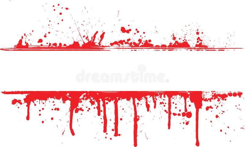 Blood splat border royalty free illustration