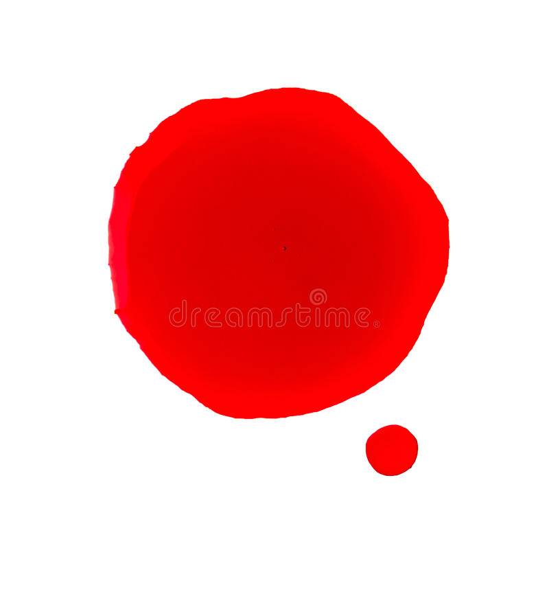 Blood stain. On a white background stock images
