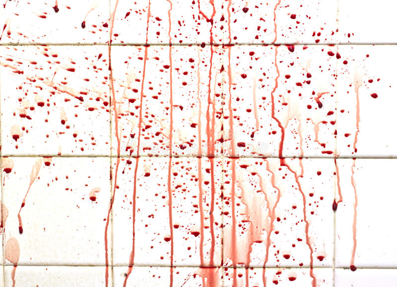 Download Blood With Streaks On Bathroom Tiles Stock Image - Image: 26714171