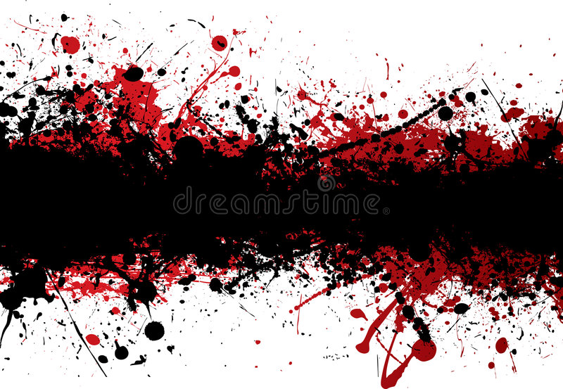 Blood strip top black royalty free illustration