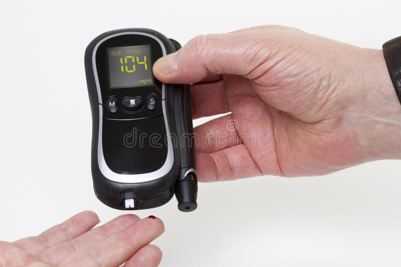 Download Blood Sugar Measuring Device Stock Photo - Image: 18814644