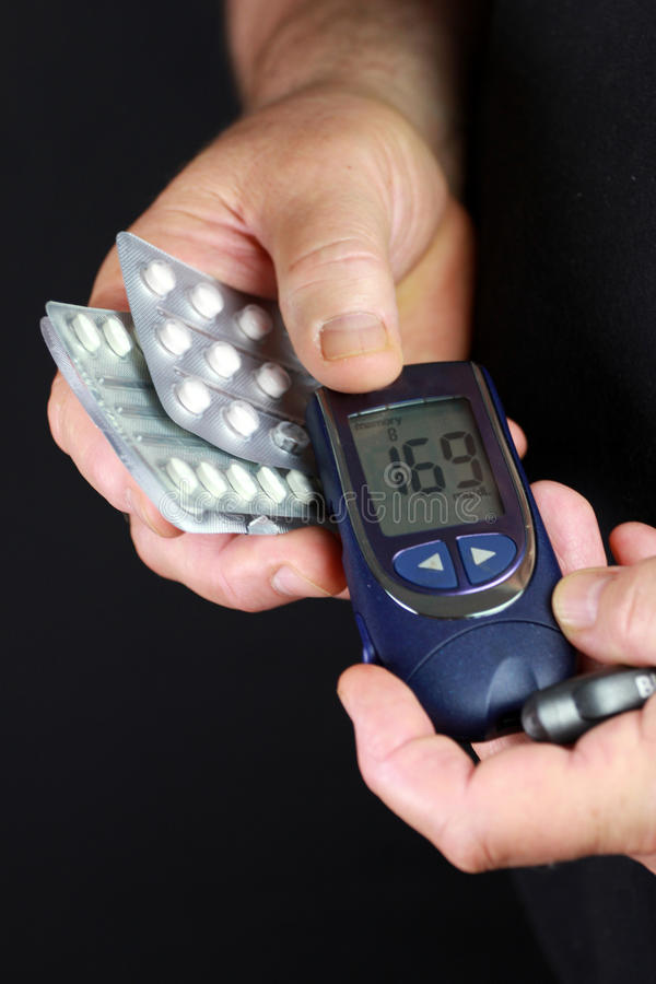 Blood Sugar Test Stock Photography