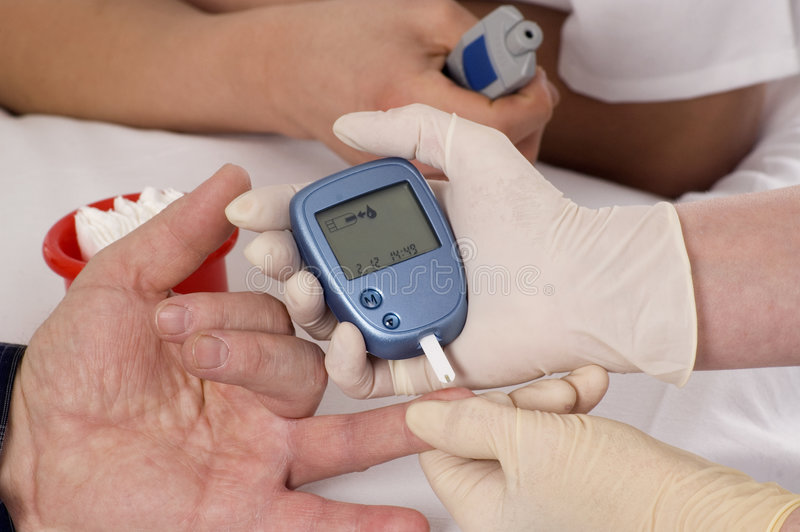 Download Blood sugar test. stock photo. Image of hand, care, glucose - 3966012