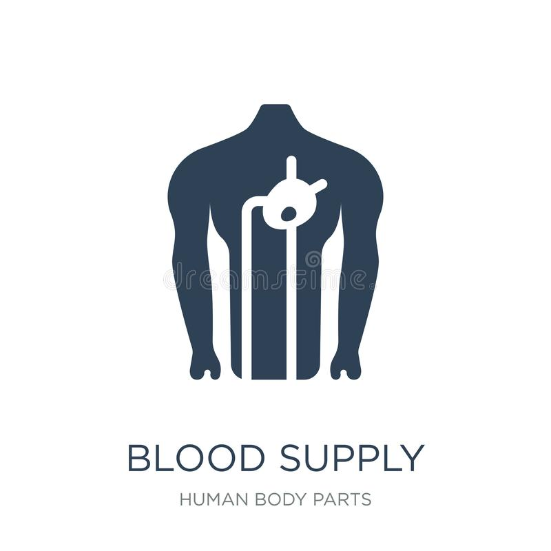 blood supply system icon in trendy design style. blood supply system icon isolated on white background. blood supply system vector vector illustration