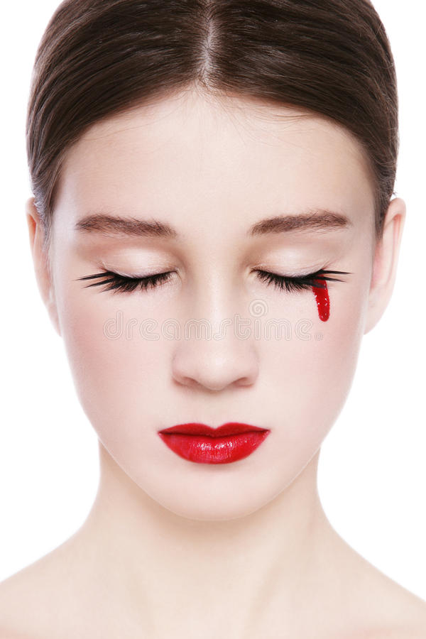 Download Blood Tear Stock Photo - Image: 28345130