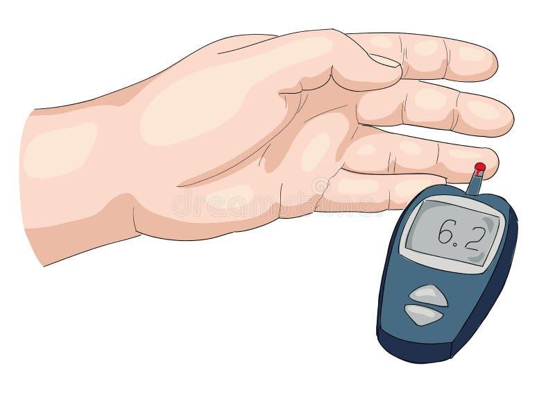 Download Blood test. stock vector. Image of blood, finger, up - 27708603