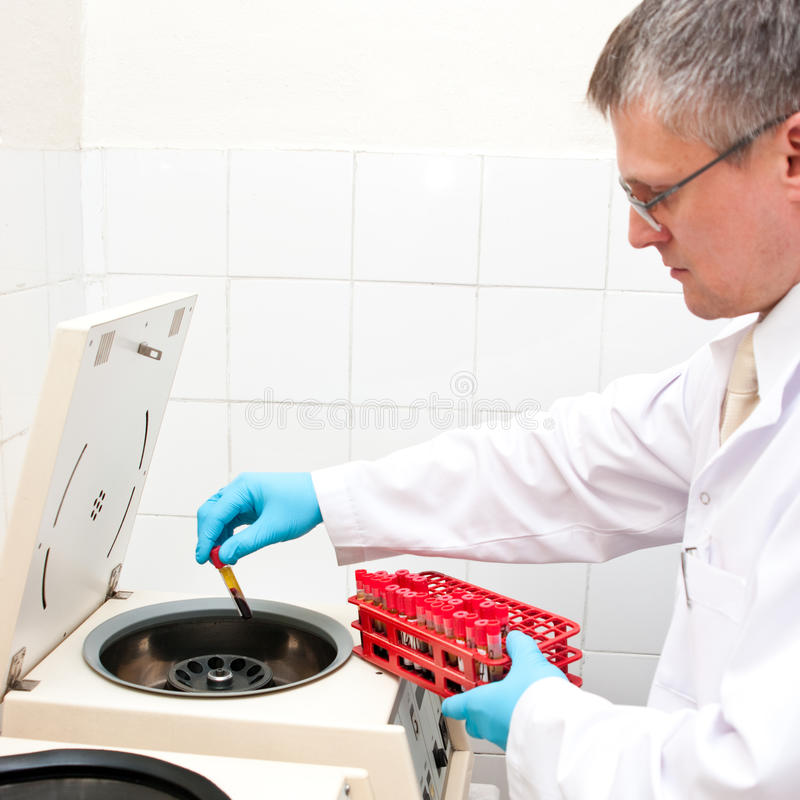 Download Blood Test Laboratory Worker Stock Image - Image: 14016179