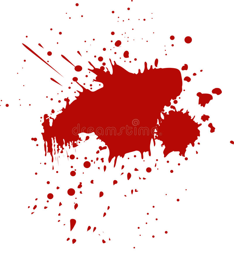 Blood, Wine splash splatter. Stain stock illustration