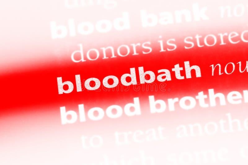 bloodbath foto de archivo libre de regalías