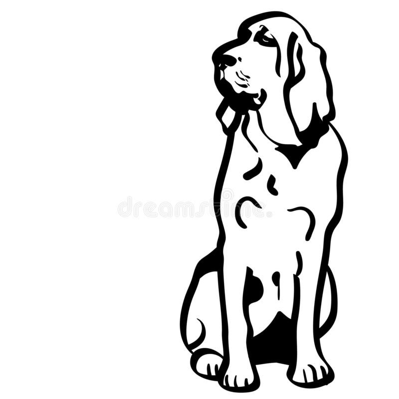 Bloodhound dog vector eps Hand drawn Crafteroks svg free, free svg file, eps, dxf, vector, logo, silhouette, icon, instant downloa. Bloodhound dog vector eps stock illustration