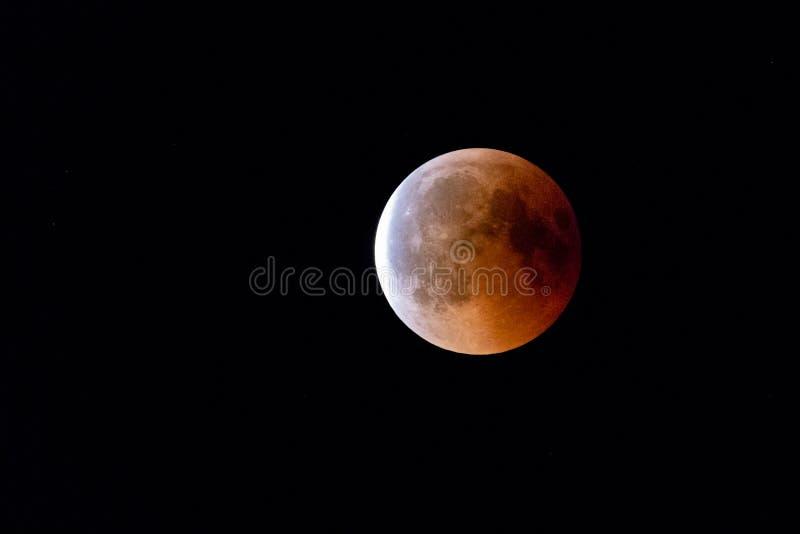 Bloodmoon, лунное затмение, полнолуние стоковые фото