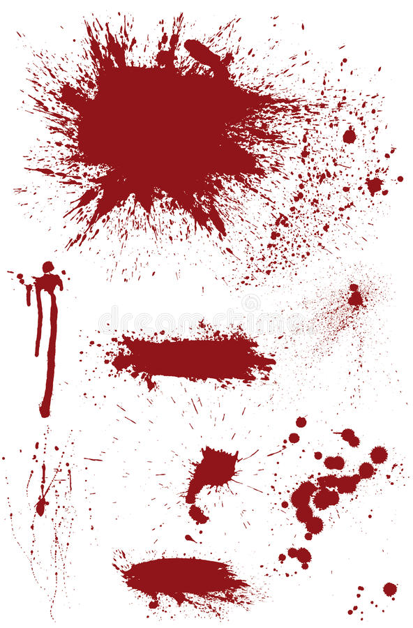 Bloodstain set ilustracji