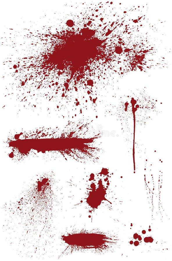 Bloodstain set ilustracja wektor