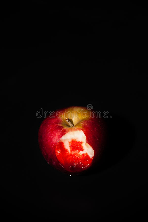 Bloody Apple stock image