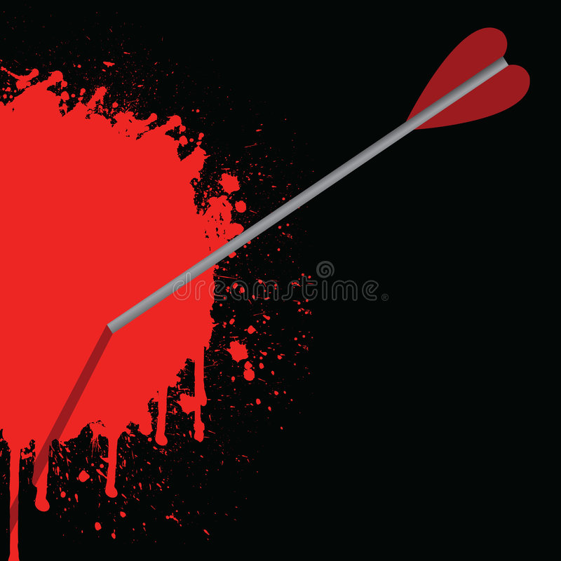 Bloody Arrow Royalty Free Stock Images