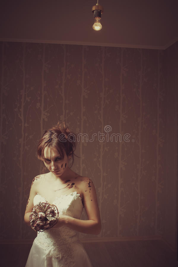 Download Bloody bride stock image. Image of fiancee, beauty, depression - 28082563