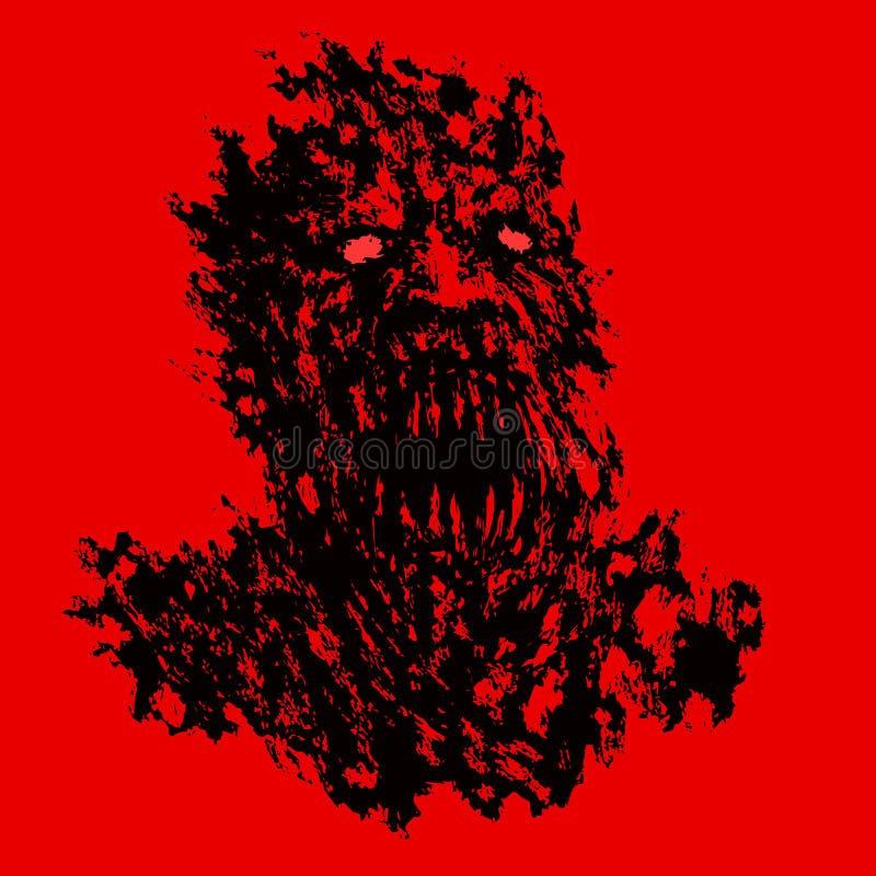 Bloody demon concept. Vector illustration. royalty free illustration