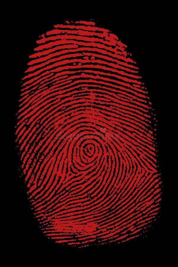 Bloody fingerpring ilustración del vector