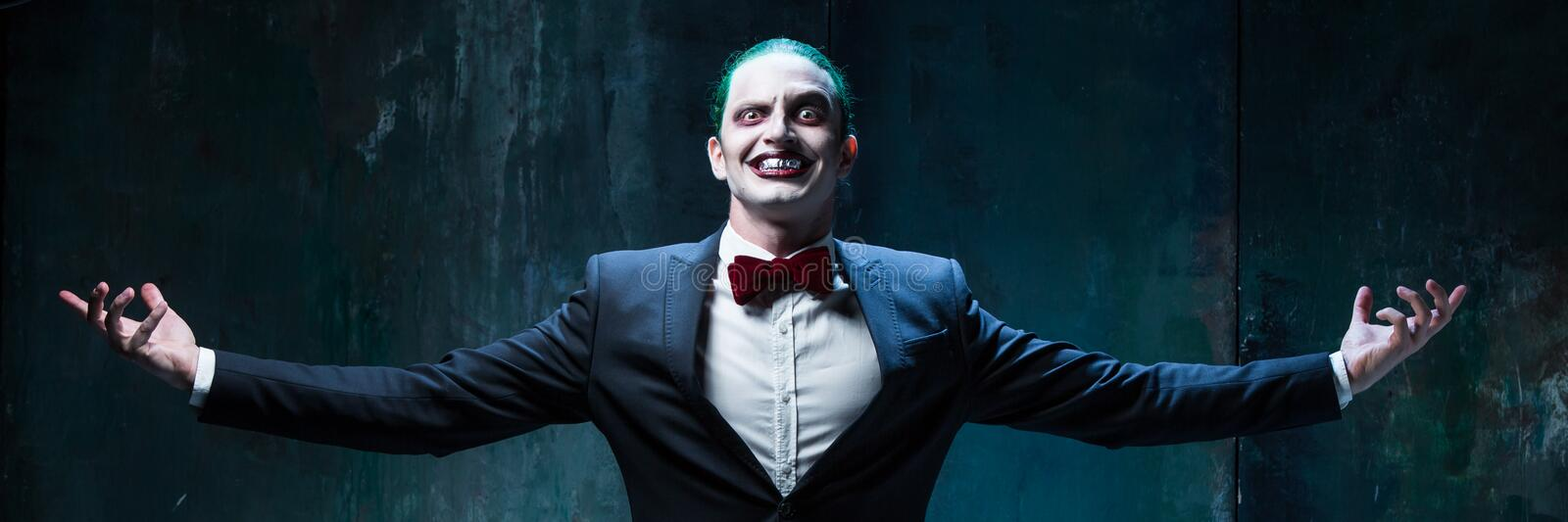 download bloody halloween theme crazy joker face stock photo image of fool circus