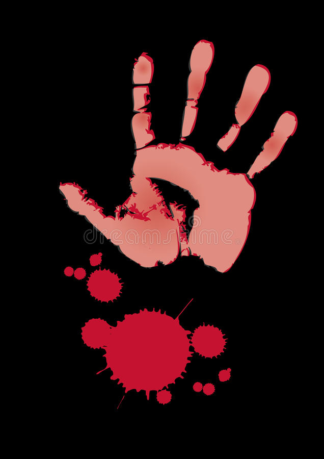 Download Bloody Hand stock illustration. Image of criminal, bloody - 17612578