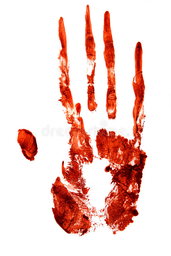 Bloody hand print royalty free stock image