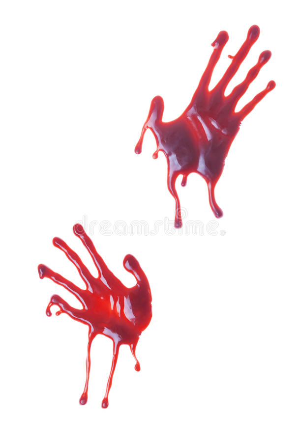 Bloody Hand Prints stock image