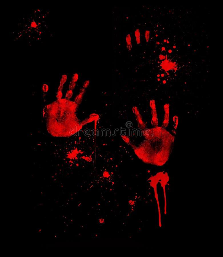 Free Bloody Handprints Stock Photography - 12528572