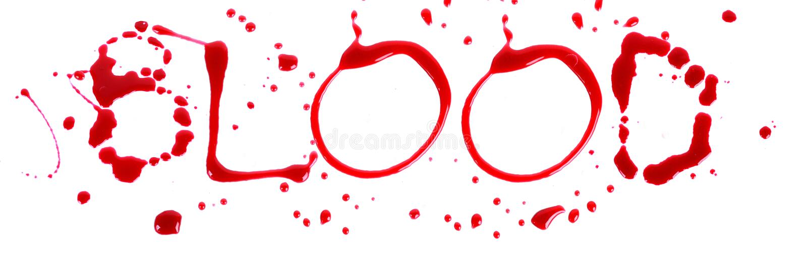 Bloody letters blood royalty free stock image